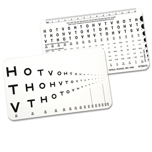 HOTV Runge Near Vision Card