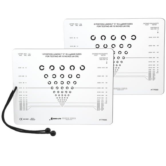 8 Position E and C Charts, Near Vision Card