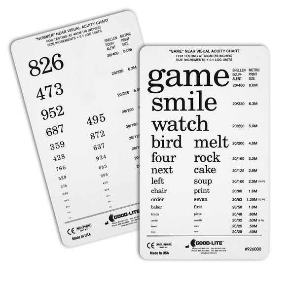 """Game & Number"" Pocket Card"