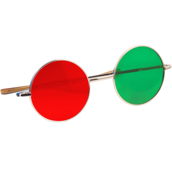 Red/Green Anaglyph Glasses