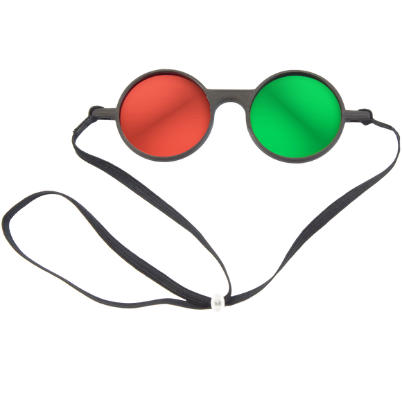 Reversible Red/Green Anaglyph Goggles