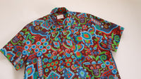 Shirt made from Vintage 60s Mod Abstract Print Fabric