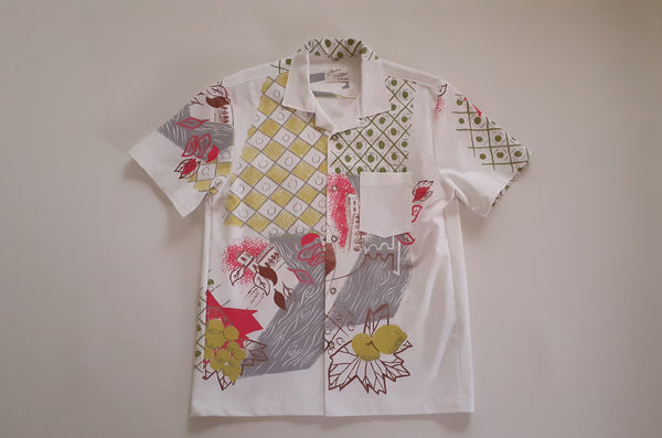 Shirt Made from Mid-century Modern Atomic Pineapple Veranda Print Textile