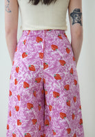 ∞ Strawberry Denim Wide Leg Pants ∞
