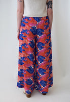 Smoke and Flower Pedals Wide Leg Pants