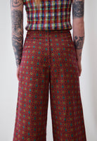 Mini Floral Corduroy Wide Leg Pants