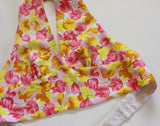 Halter Top made from Pansy Print Linen. Size XS - Small