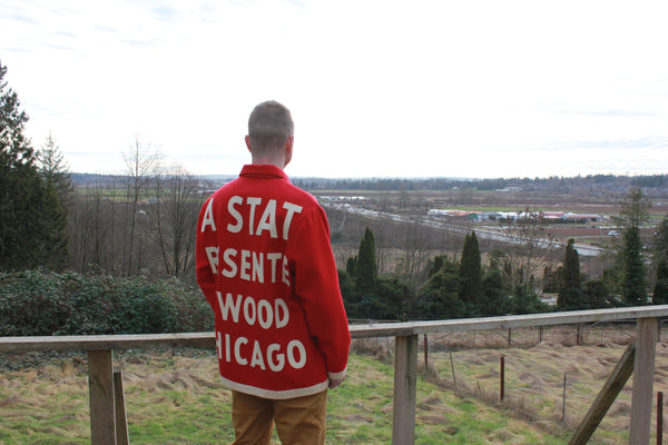 Vintage State Fair Banner Coat - Medium / Large