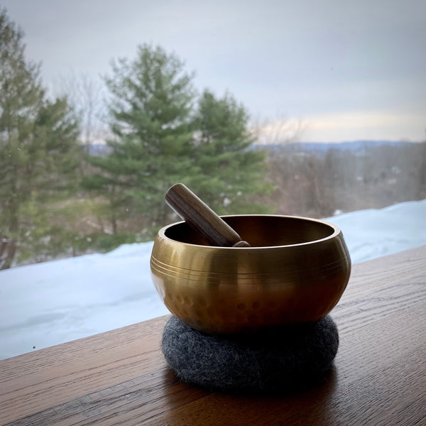 Hand-Hammered Brass Singing Bowl