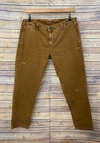 Pantalone chino BERNA in cotone color nocciola