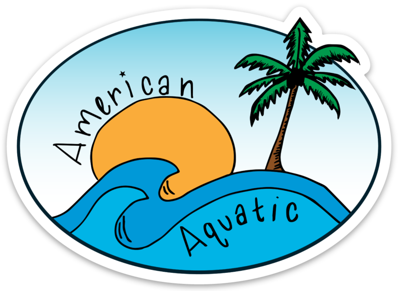 American Aquatic Sunset Sticker