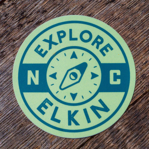 Explore Elkin Compass Sticker