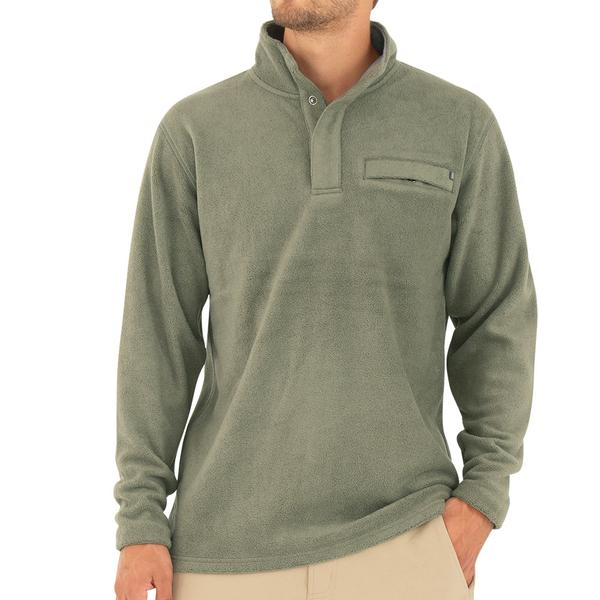 Bamboo Polar Fleece Snap Pullover