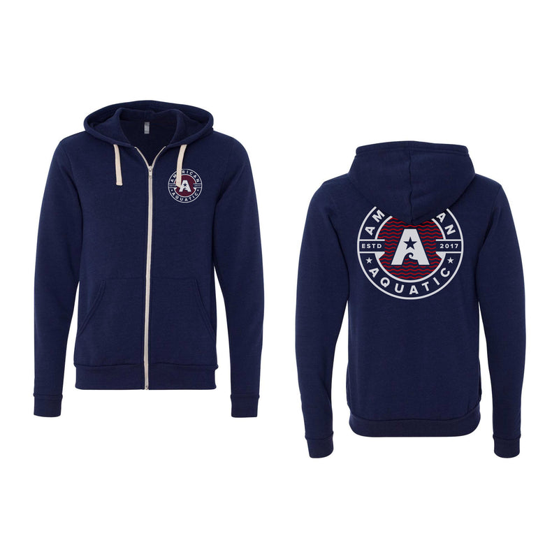 American Aquatic Triblend Full Zip Hoodie