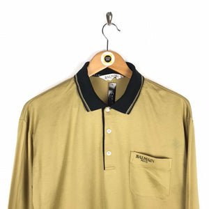 Vintage Balmain Polo Shirt Large