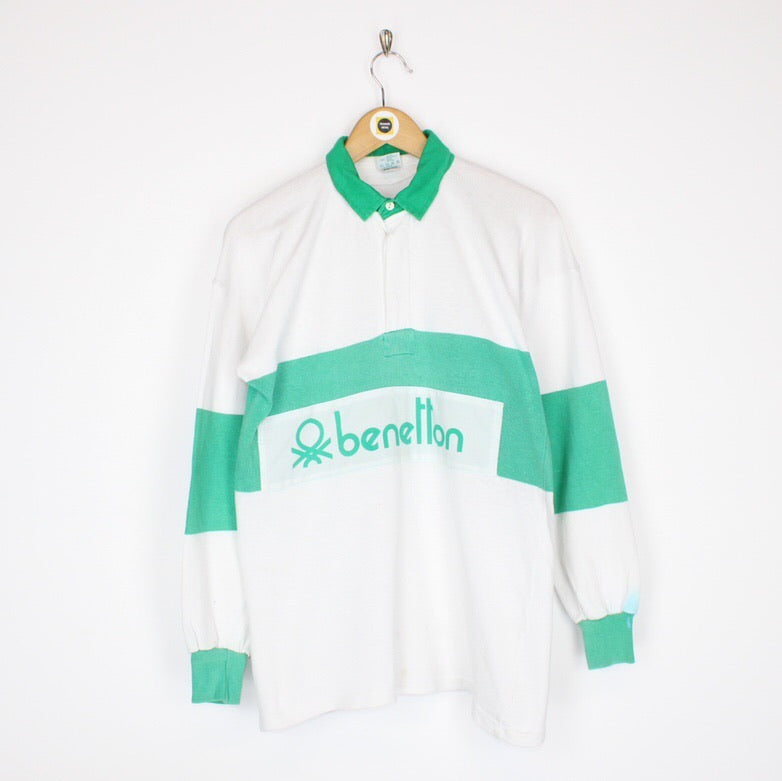 Vintage Benetton Rugby Shirt Small