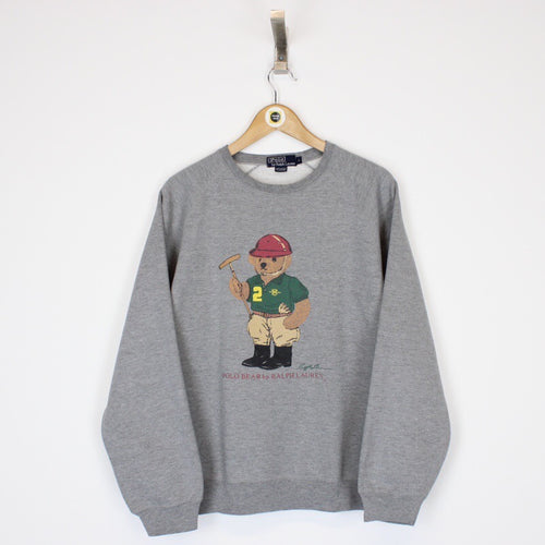 Vintage Polo Bear Sweatshirt Medium