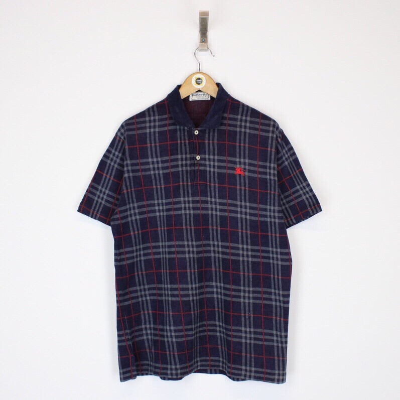 Vintage Burberry Polo Shirt Medium
