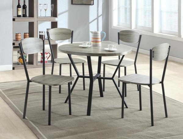 BLAKE 5-PC ROUND DINING SET 1230SET-GY - Best Discount