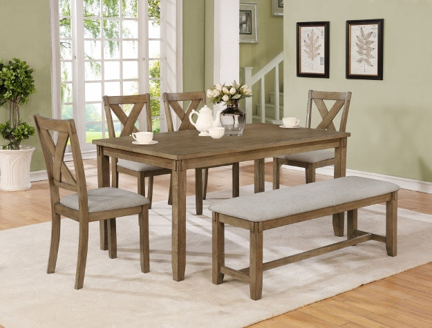 Clara Wheat Rectangular Dining Set | 2321 - Best Discount
