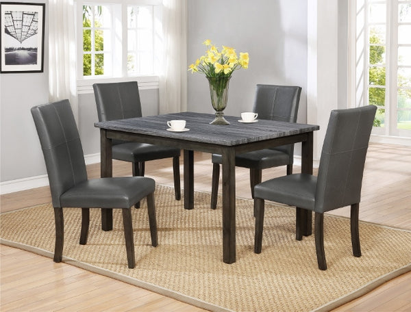 POMPEI GREY DINING GROUP SET 2377GY-5P - Best Discount