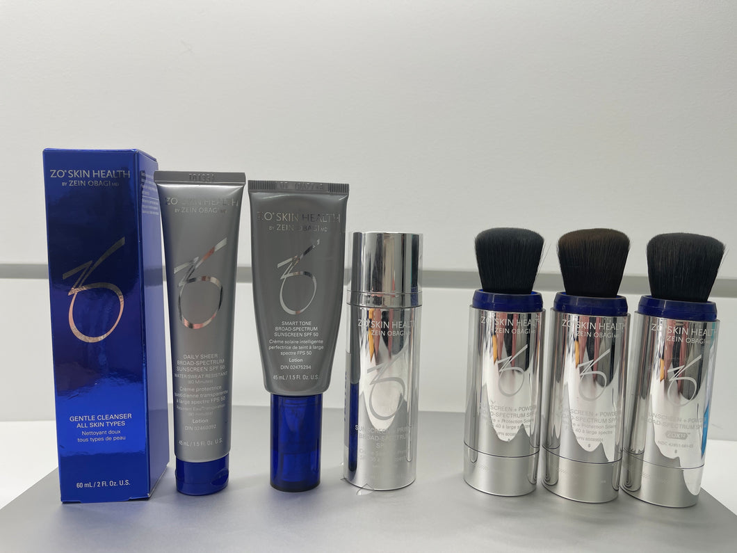 Summer Ready SPF's- We have you Covered! With FREE ZO Cleanser, Daily Power Defense & make-up bag and hand sanitizer.