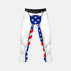 USA America Flag compression 3/4 tights / leggings