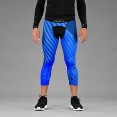 Aerial Blue 3/4 Tights for men