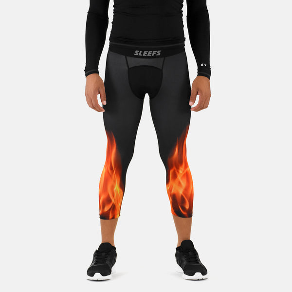 Black Fire 3/4 Tights for men