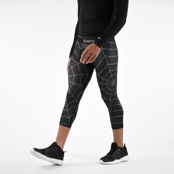 Black Ops Web Pattern Compression 3/4 tights / leggings