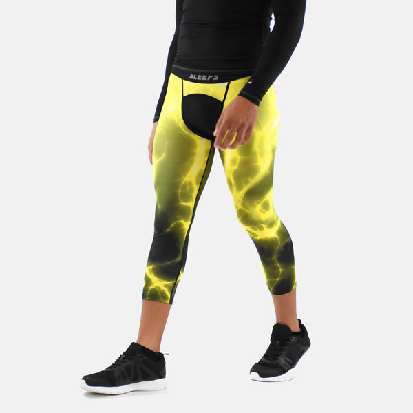 Electric Yellow Compression 3/4 tights / leggings