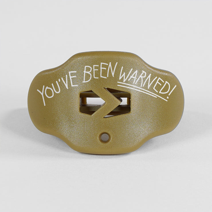 You've Been Warned Gold Mouthguard