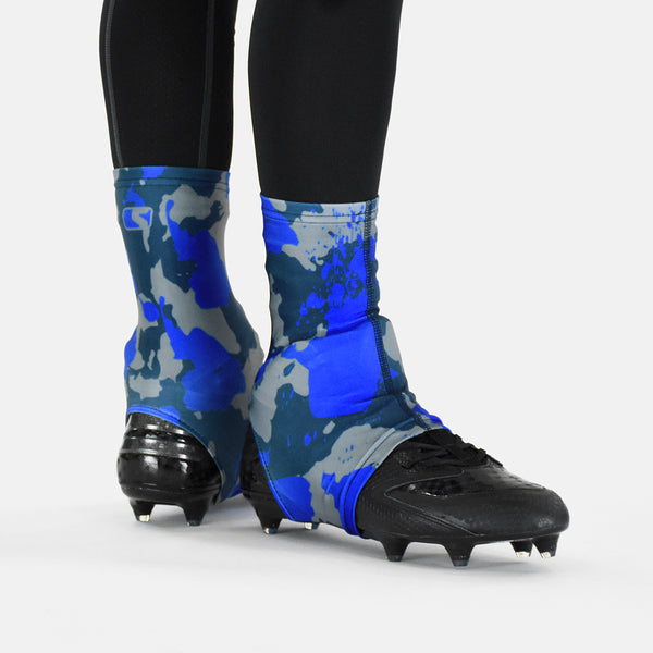 Corrosive Gray Blue Spats Cleat Covers Sleefs