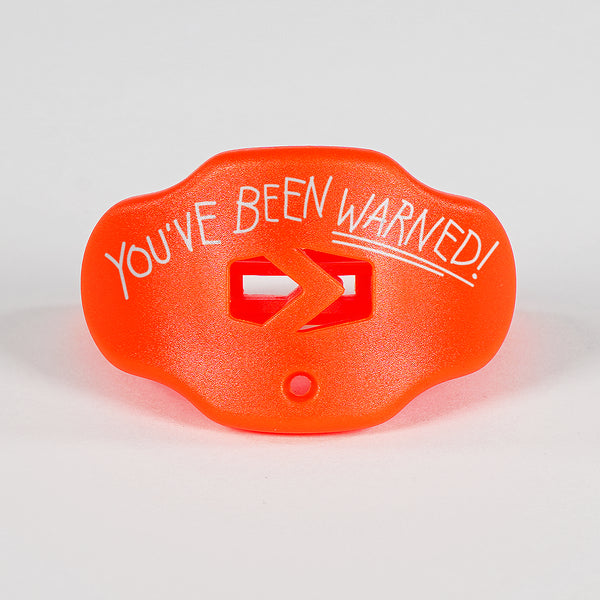 You've Been Warned Orange Football Mouthguard