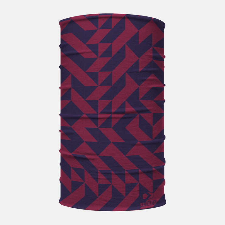 Abstract Blue Wine Neck Gaiter