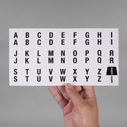 Alphabet Stickers for Helmets
