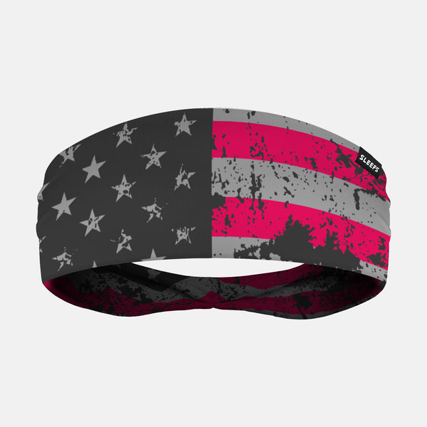 American Clutch Pink Gray Headband