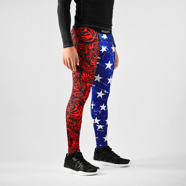 American Roses compression tights / leggings