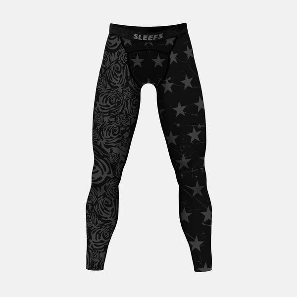 American Roses Black OPS compression tights / leggings