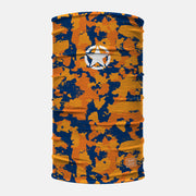 Military Star Corrosive Orange Navy Neck Gaiter