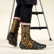 Aztec Black Gold Spats / Cleat Covers