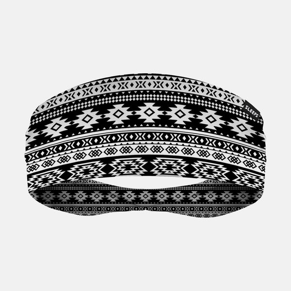 Aztec Black White Headband