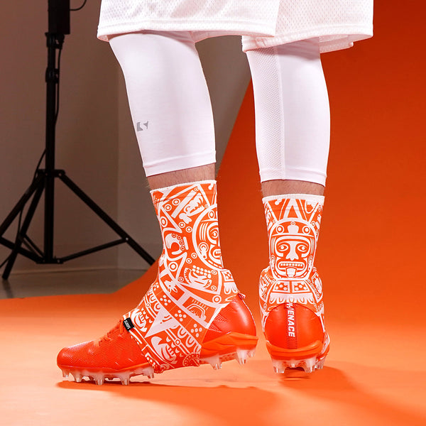 9b701b097e86 Aztec Orange Spats   Cleat Covers ...