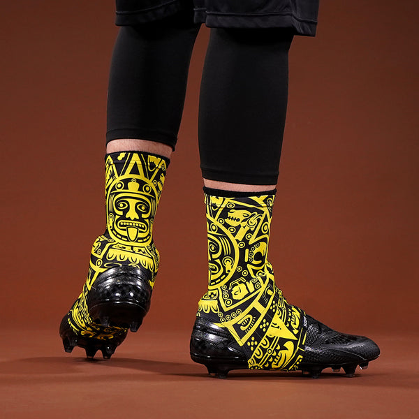 Aztec Yellow Spats / Cleat Covers