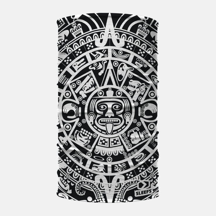 Black White Aztec Neck Gaiter