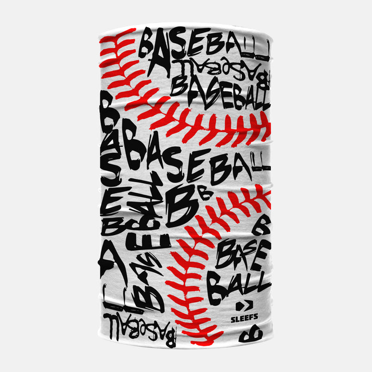 Baseball Graffiti Neck Gaiter