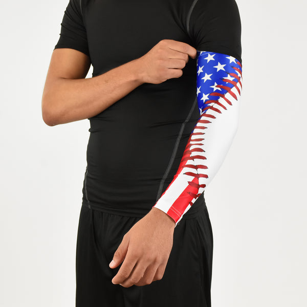 c539fd189e ... Baseball Lace USA Arm Sleeve; american flag ...
