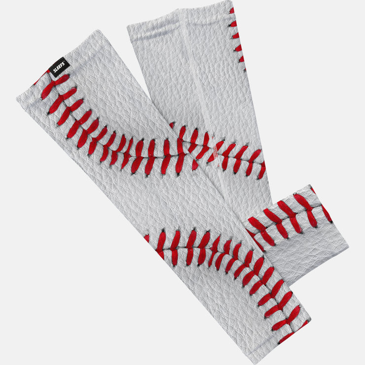 Baseball Lace White Leather arm sleeve