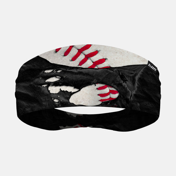 Ripped Baseball Black Headband