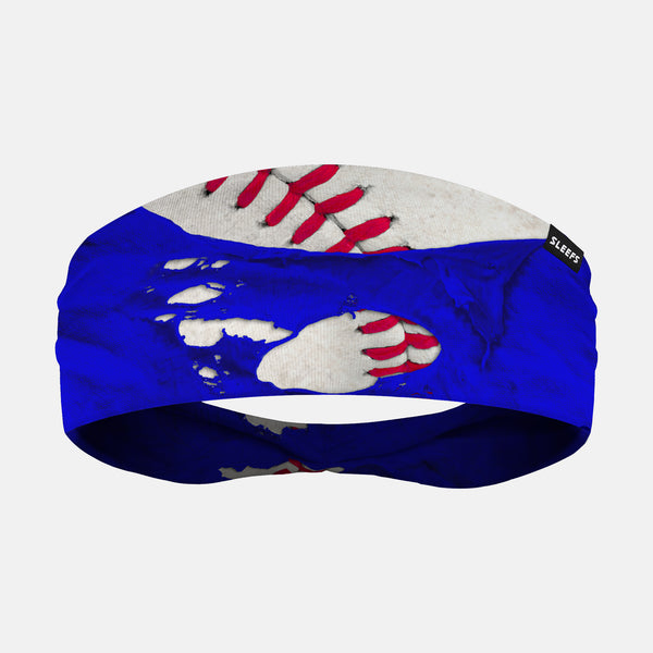 Ripped Baseball Blue Headband